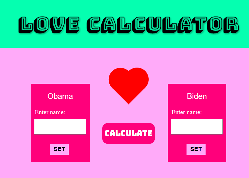 Create a LOVE CALCULATOR Website In Blogger Free Script